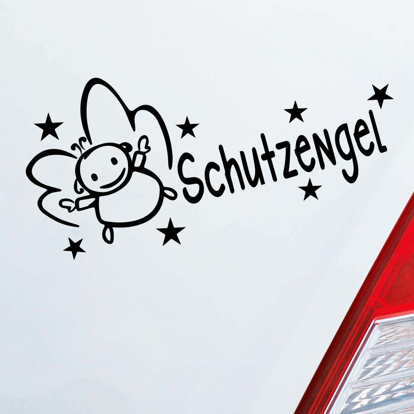 Auto Aufkleber In Deiner Wunschfarbe Schutzengel Fahrt Schutz Engel Angel Guard 15x7cm Autoaufkleber Sticker Folie Auto