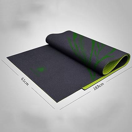 Amazon.com : Yoga mat Non-Slip Black Cushioning Exercise ...