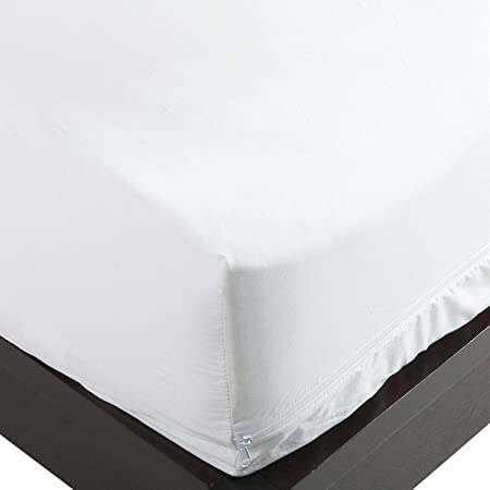 Bed Bug//Allergy Relief Waterproof Mattress Cover Cotton Top for Queen Size Bed
