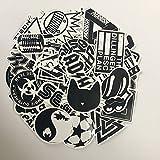 XONOR 120PCS Black White Vinyl Sticker Graffiti