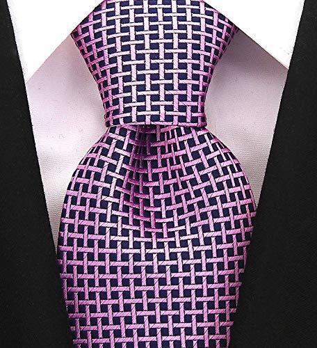 Neckties By Scott Allan - Purple Geometric Men's Tie