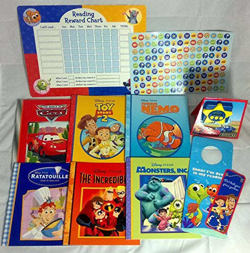 Disney Pixar Reading Rewards Bundle Book Kit ~ Books, Timer, Rewards Chart, Stickers, Bookmark & Door Hanger