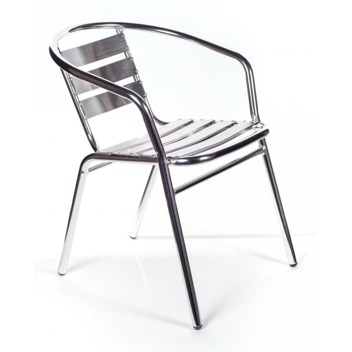San Marco 2 sedie alluminio impilabili per bar da interno o esterno marca