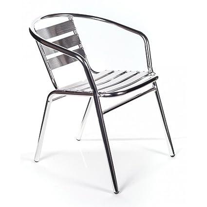Sedie Da Esterno Impilabili.San Marco Smdc101x4 4 Sedie Alluminio Impilabili Per Bar Da Interno