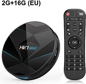 Sroomcla HK1 Mini Android 9.0 Smart TV Box, RK3318 4GB RAM 64GB ROM 2.4G 5G Dual WiFi, Reproductor Multimedia Digital BT4.0 3D 4K HDR H.265 USB3.0: Amazon.es: Electrónica