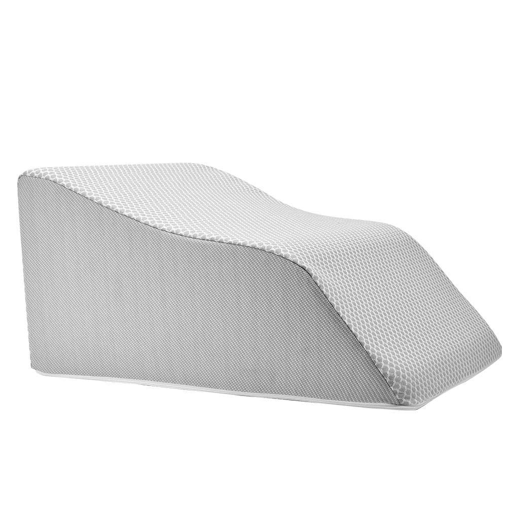 Extra Wide Lounge Doctor Elevating Leg Rest Pillow Wedge w Cooling Gel Memory Foam and Light Blue Cover Large-Foot Pillow-Leg Support-Reduce Swelling-Improves Circulation by The Lounge Dr. (Image #2)