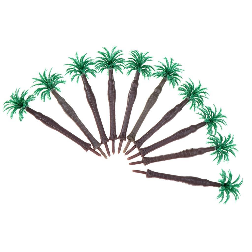 Mini Modelos Árbol Coco Verde Hecho de Plástico para Modelo de ...