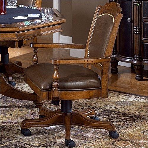 Hillsdale Furniture Nassau Game Chair, Brown by Hillsdale Furniture