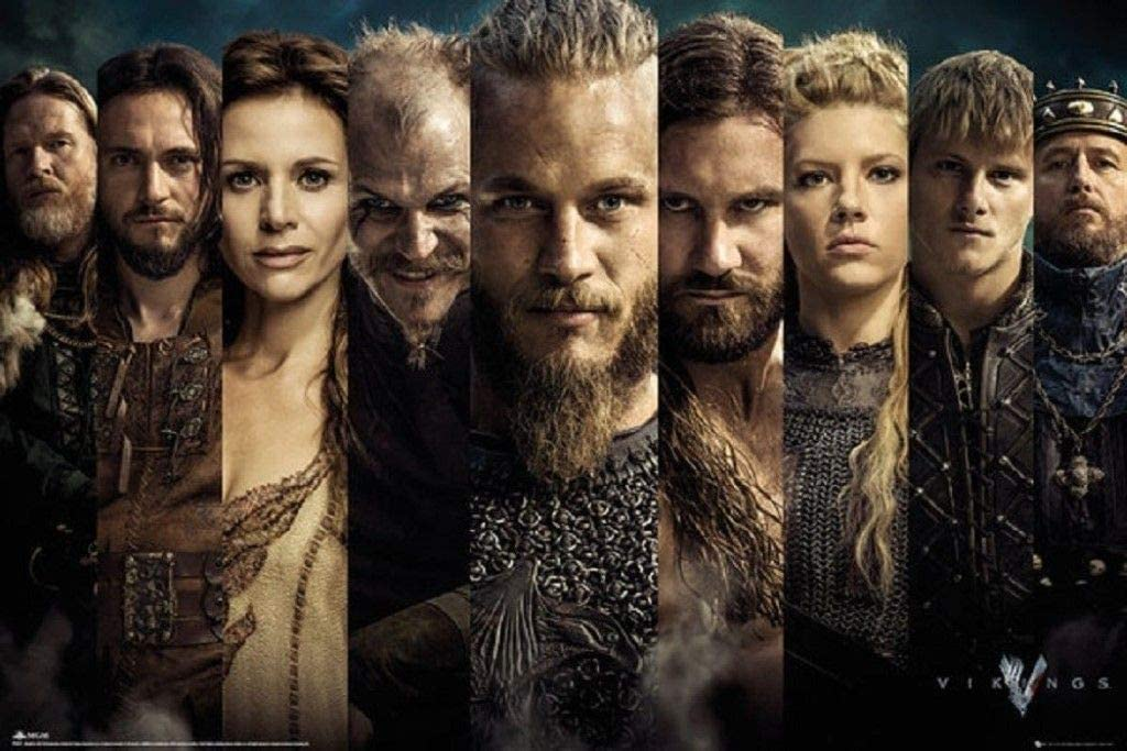 """Amazon.com: TV Vikings History Channel Show Collage Photo 36"""" X 24 ..."""