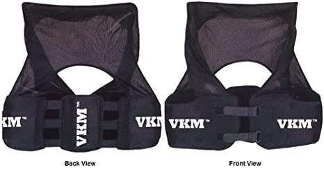 b4644e6be VKM Football Lacrosse Rugby Rib Vest Pads, Protect Spine & Kidneys, YOUTH ( Youth
