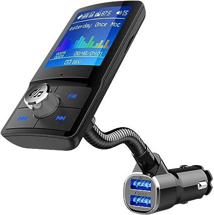 Amazon.com: Bluetooth Transmisor FM con UNA tecla para coche ...
