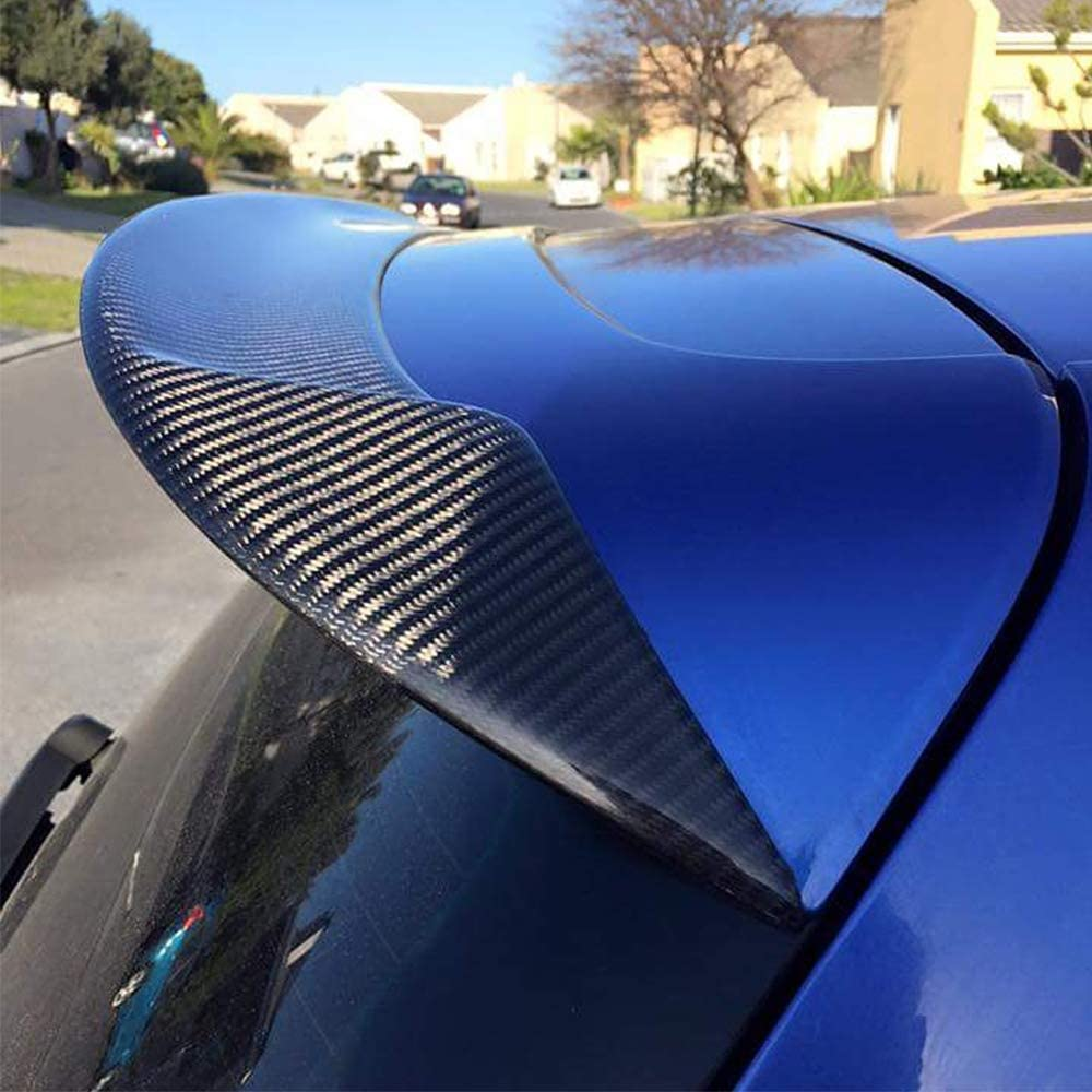 JC SPORTLINE Carbon Fiber Roof Spoiler Fits for Volkswagen VW Golf 6 GTI & R Hatchback 2010-2013Rear Trunk Roof Lip Spoiler Tail Wing Factory Outlet(Carbon Fiber)