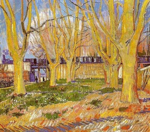 Vincent Van Gogh Avenueアルル近くの平面の木駅 41x36の商品画像