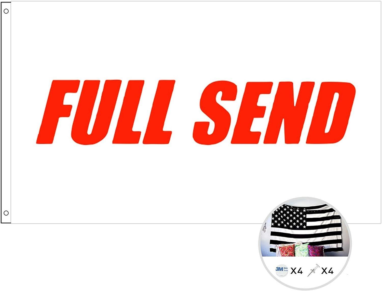 Full Send Flag Nelk Boys Indoor Outdoor With Grommets For Hanging