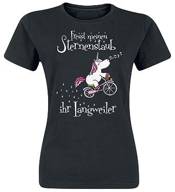 Einhorn Fresst Meinen Sternenstaub Ihr Langweiler T Shirt Schwarz