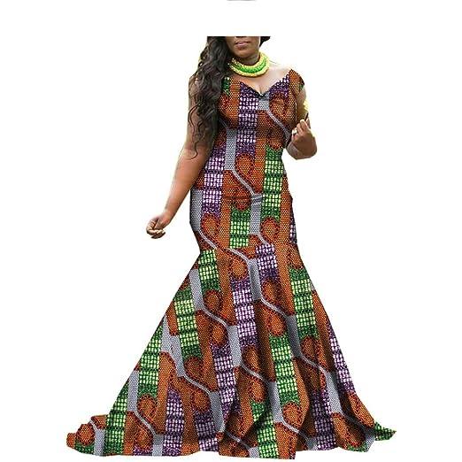 Amazoncom Realwax 2019 African Print Wax Dress Dashiki For Women