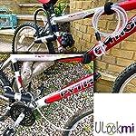 Lucchetto-a-U-per-Bici-U-Blocco-Bicicletta-Robusta-16mm-Antifurto-ad-Arco-con-Staffa-di-Fissaggio-10mm-x-1200mm-di-Cavo-in-Acciaio-Flessibile-Intrecciato-Sicurezza-per-Biciclette-Moto-e-Scooter