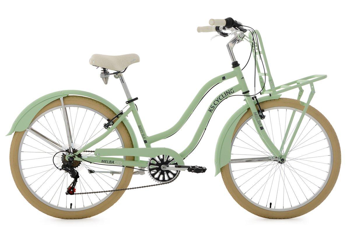 KS Cycling Damen Beachcruiser Cargo Cruiser 26' Melba grün Fahrrad, mintgrün KSCA5|#KS Cycling 755B