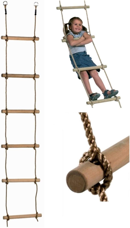 LoggyLand Cuerda 2m Escalera - TÜV / GS: Amazon.es: Juguetes y juegos