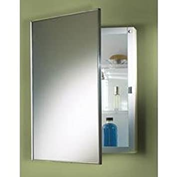 recessed medicine cabinet with sidelights lights and outlet basic molded