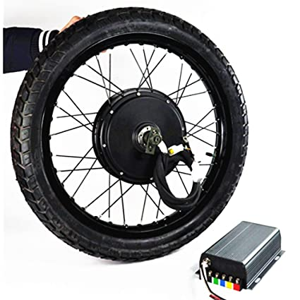 Amazon com: 19inch 5000W Electric Bicycle Conversion Kit with tire
