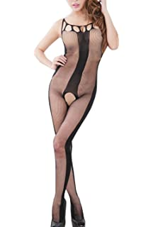 cf2a321acecef Sunday77 Bodystocking Crotchless Sheer Sexy Fishnet Open Crotch Body ...