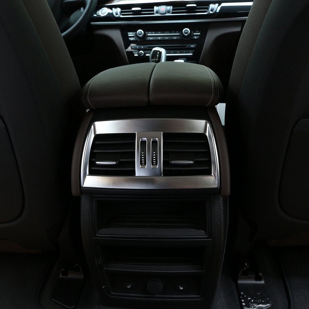 Mate Plata Trasera aire acondicionado Outlet Vent Cover Trim para X5 X6 F15 - F16 2014 2015 2016 2017 coche accesorios: Amazon.es: Coche y moto