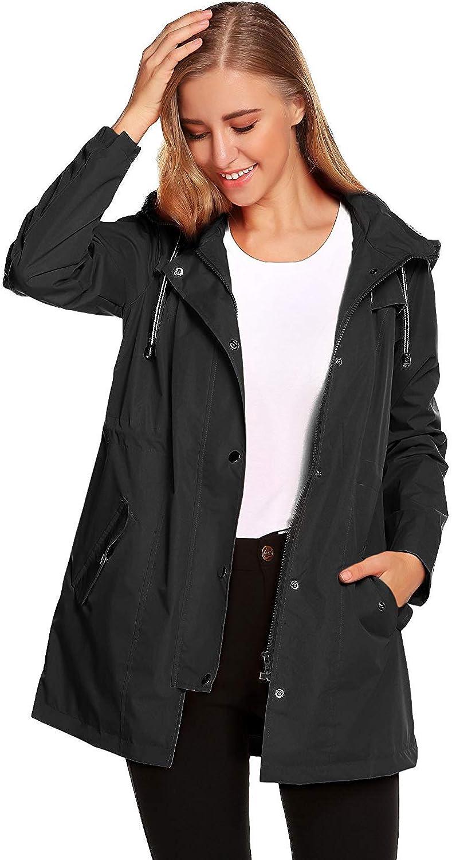 AidShunn Giacche Impermeabili da Donna Impermeabile Giacca a Vento Cappotti per Escursionismo Sci da Neve Alpinismo Trekking Abbigliamento da Pioggia Casual Invernale