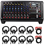 Peavey XR AT 1000W Powered/Active 9 Ch. Mixer w/ Bluetooth+AutoTune XRAT+Cables