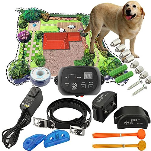 2016-Newest-Electric-Dog-Fence-2-Wireless-Shock-Collar-Waterproof-Hidden-System