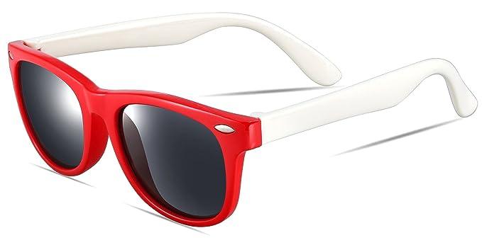 ATTCL® 2016 New TR90 Wayfarer polarizadas gafas de sol Para Niños Niños Niñas Rojo rosso