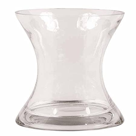 Pack Of 2 Large Extraordinary Hourglass Shaped Glass Flower Vase