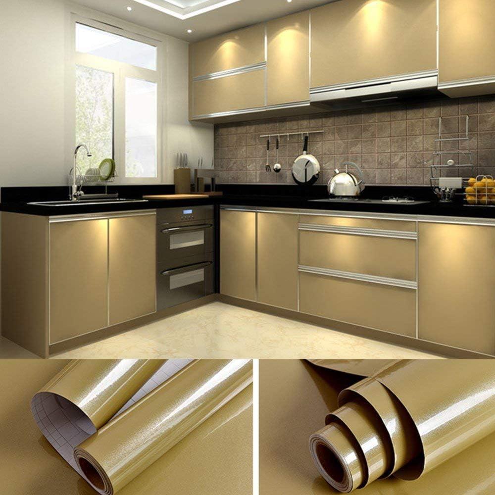 Hode Papel Adhesivo para Muebles Brillar Oro 30cmX3m Vinilo para ...