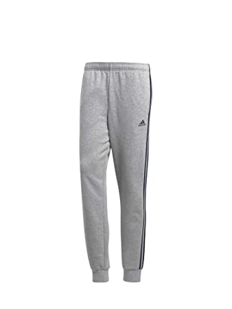 adidas Herren Essentials 3 Stripes Tapered Cuffed Fleece Hose