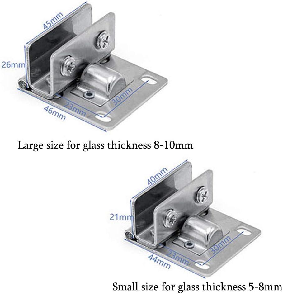 Soporte para estante de cristal vidrio SoundZero 4pcs 90 grados Grosor de Cristal Bisagras ducha Acero Inoxidable Cristal Bisagras Puertas ba/ño cristal Bisagra armario 5 /– 8 mm//8-10mm muebles