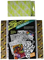 Crayola Art with Edge Studio Kit Geoscapes Coloring Book & Markers Aged