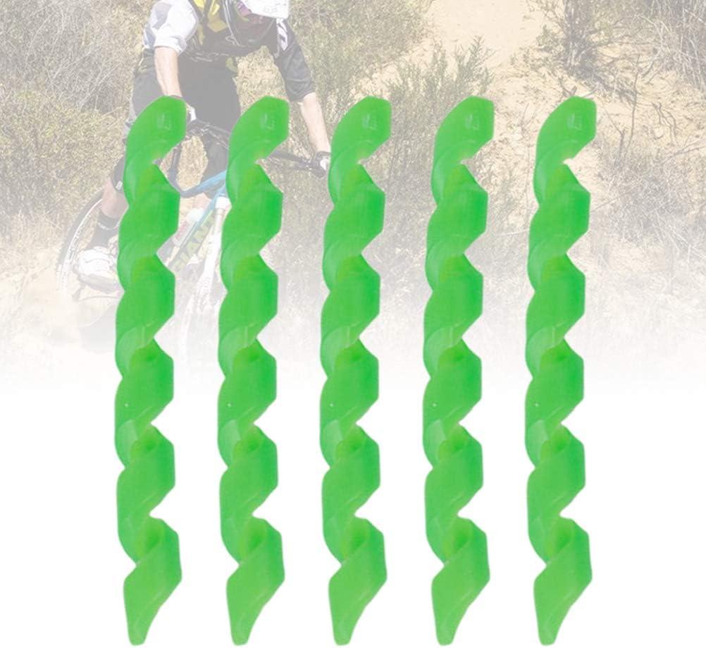 LIOOBO 5pcs Spirale Gaine de c/âble de v/élo Wrap Caoutchouc logement Protecteur Cadre Garde pour VTT v/élo Frein Ligne Tuyau