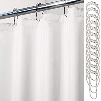 Buy 72 X 84 MDesign Mildew Free Waterproof Fabric Shower Curtain Liner With 12 Rings