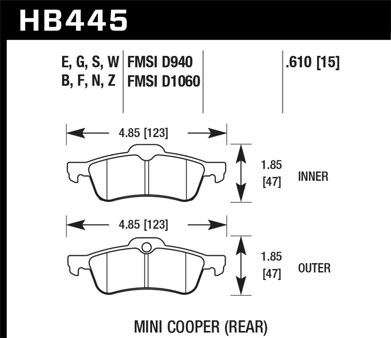 Hawk Performance HB445W.610 Disc Brake Pad