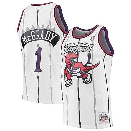 5b981909321 Jordan Men's Toronto Raptors #1 Tracy McGrady White 1998-99 Hardwood  Classics NBA Swingman