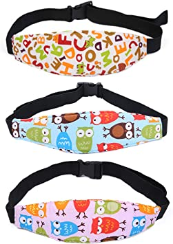 Kids Chairs cjixnji Child Head Support Adjustable Head Holder Sleep Belt Neck Relief Heads Strap Suitable for any Baby Seats Pram Strollers(3PCS) Car Seat Head Support Toddler Car Seats