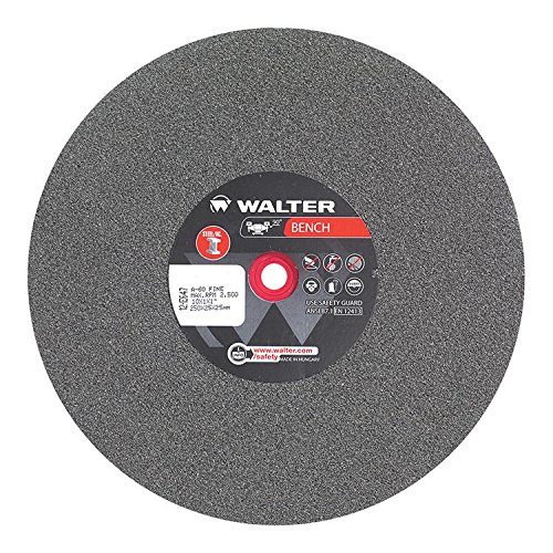 - Walter 12E647 Bench Grinding Wheel - Fine Grit 60, 10 in. Finishing Wheel for Bench and Pedestal Grinders. Abrasive Finishing Supplies