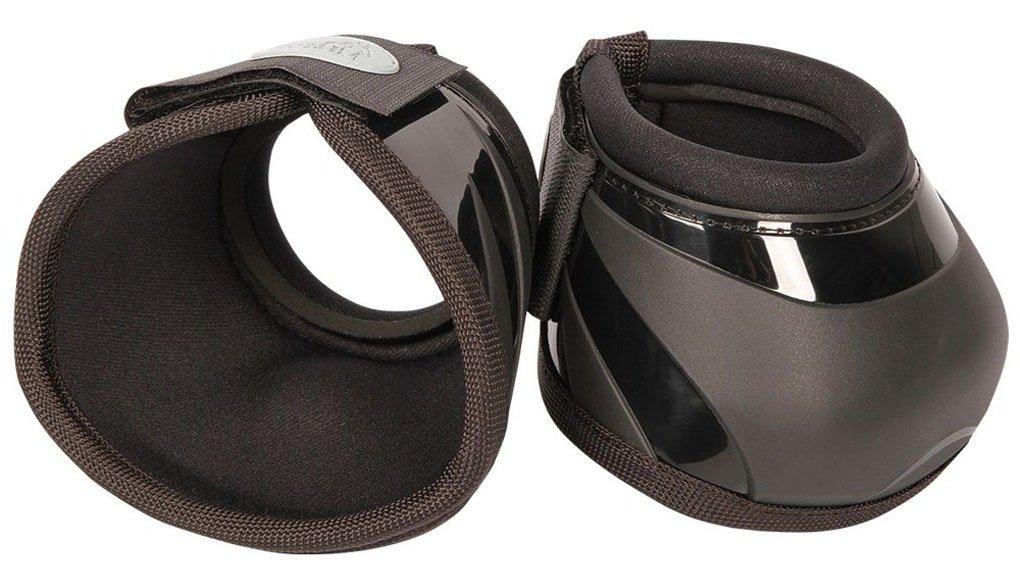 Cloches en cloche pour cheval avec coque renforcée, Velcro et bouton intérieur pour empêcher un drehen, doublure en néoprène Noir Taille M Reitsport Amesbichler