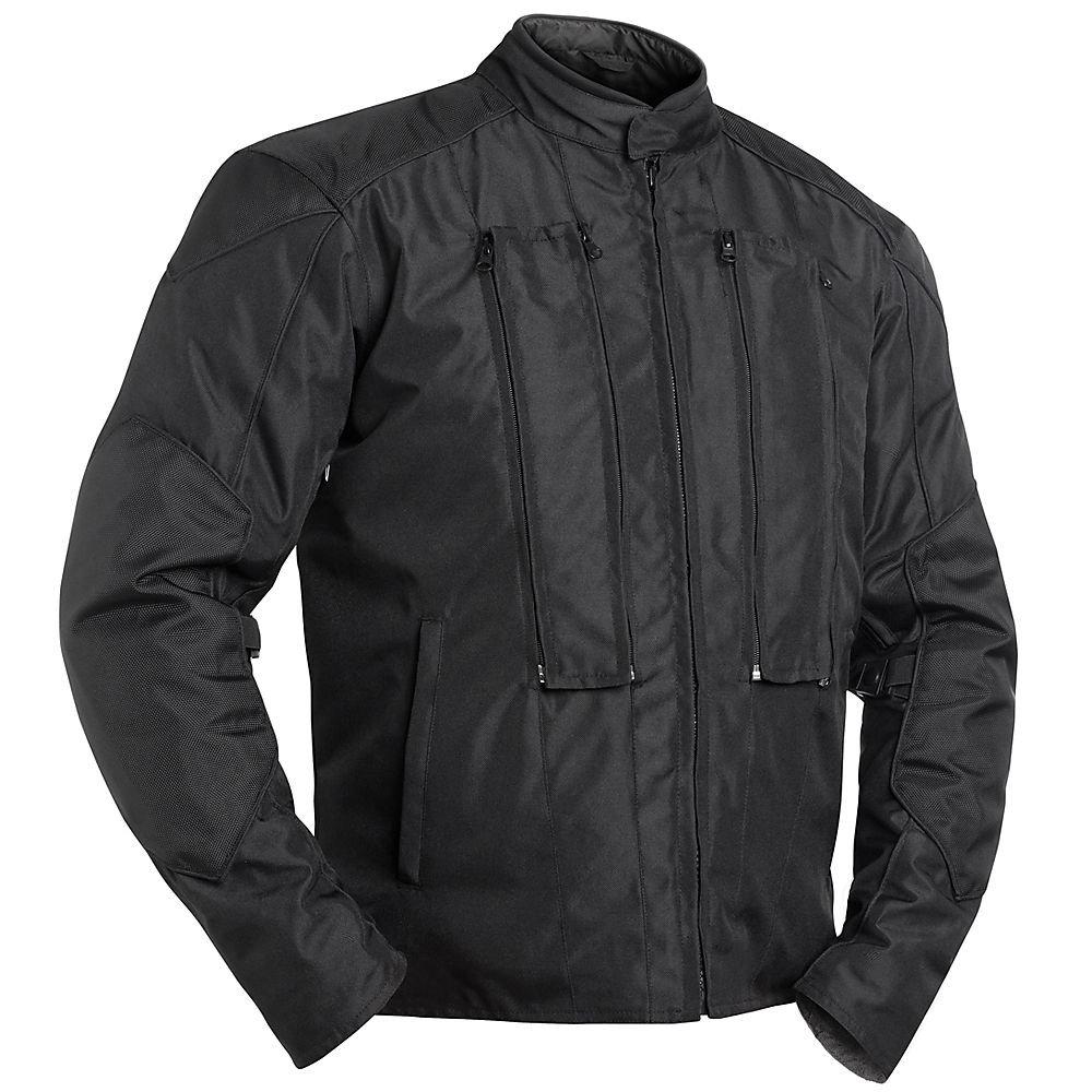 BILT Apollo Waterproof Vented Textile Motorcycle Jacket - SM, Black