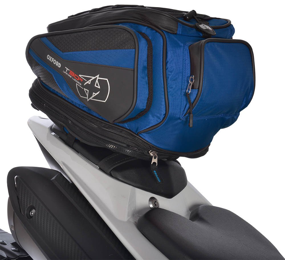 OXFORD T30R 30 LITRE MOTORCYCLE TAILPACK OL335 CARGO NET