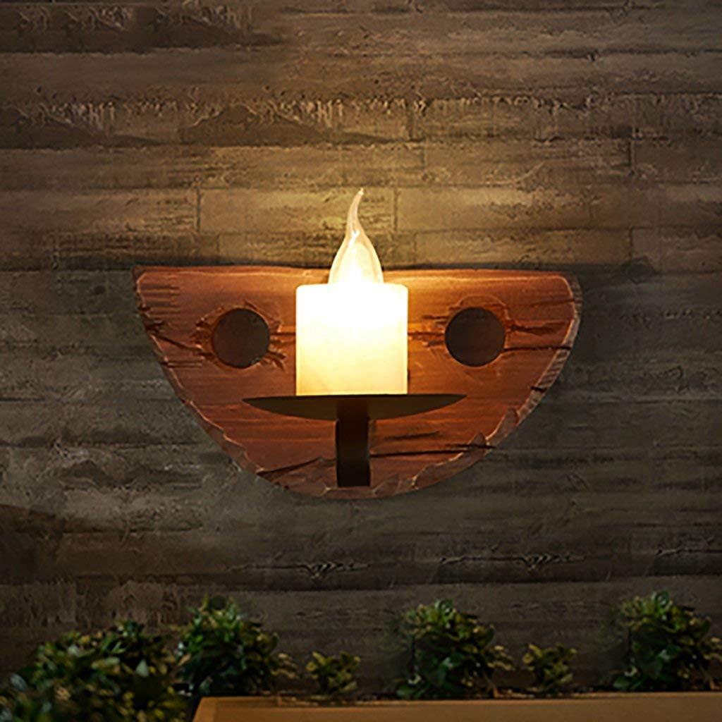 Oudan Retro Wandleuchte LOFT Light Holz Wandleuchte Eisen Bar Bar Bar Coffee Shop Kreative Beleuchtung Gang Korridor Treppen Balkon E14 LOFT Wandleuchte (Farbe   -, Größe   -)