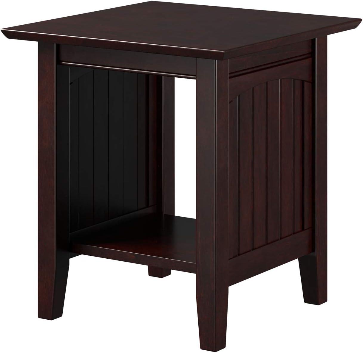 Atlantic Furniture Nantucket Chair Side Table, Espresso