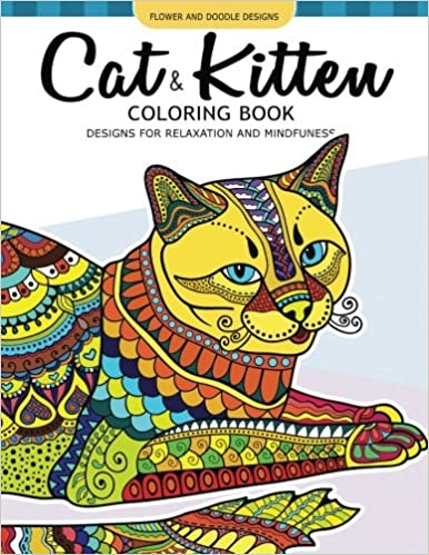 Cat and Kitten Coloring Book: A Pet coloring book for cat ...