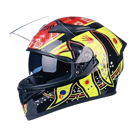 Johnson Casco de Motocicleta para Hombre y Mujer, con Casco Completo para 4 Estaciones,