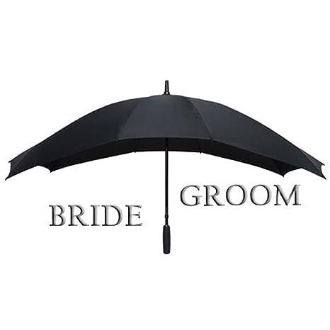 Paraguas para dos personas - paraguas doble (Negro)